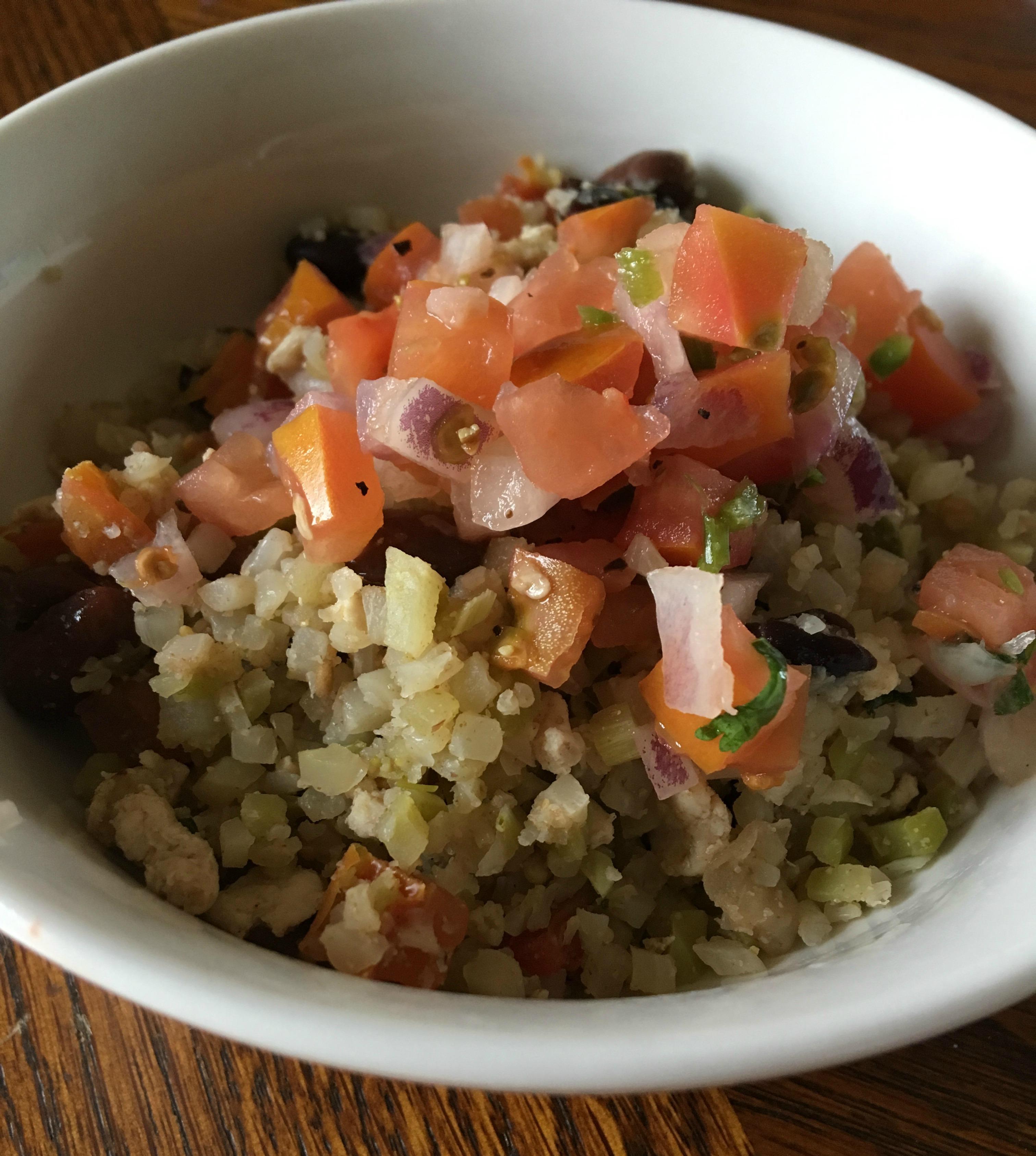 burrito bowl_cauliflower_riced